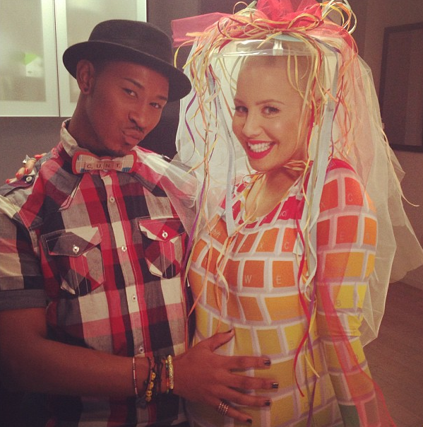 Amber Rose pour sa baby shower le 6 janvier 2013