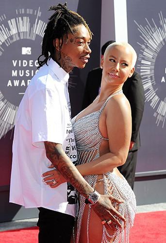Amber Rose et son chéri Wiz Khalifa à Los Angeles le 24 août 2014