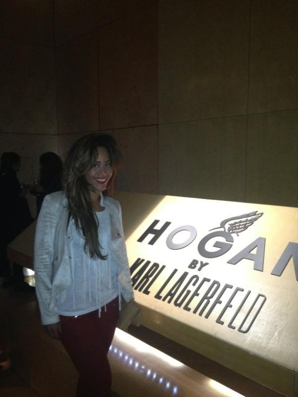 Amel Bent à la soirée Hogan by Karl Lagerfeld !