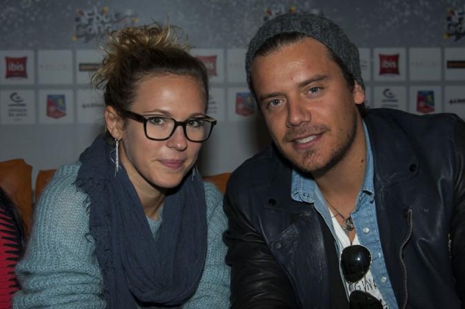 Lorie et Brice Conrad à l'évènement Foot concert organisé à Lyon le 12 octobre 2013