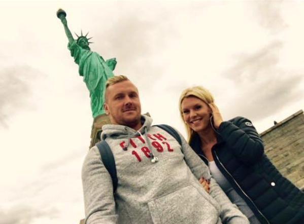 Photos : Amélie Neten : heureuse à New York avec son homme !