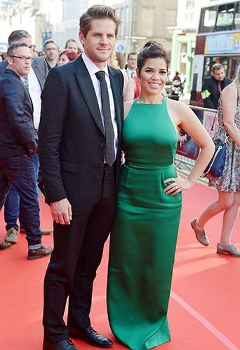 Ryan Piers Williams et America Ferrera à Edimbourg le 18 juin 2014