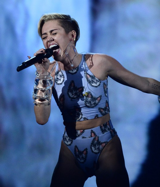 Miley Cyrus lors des American Music Awards à Los Angeles, le 24 novembre 2013.