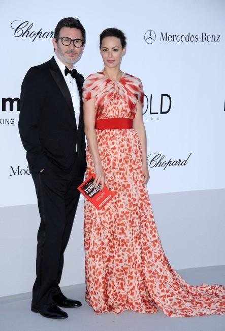Michel Hazanavicius et Bérénice Béjo lors du gala de l'amfAR à Antibes, le 24 mai 2012.