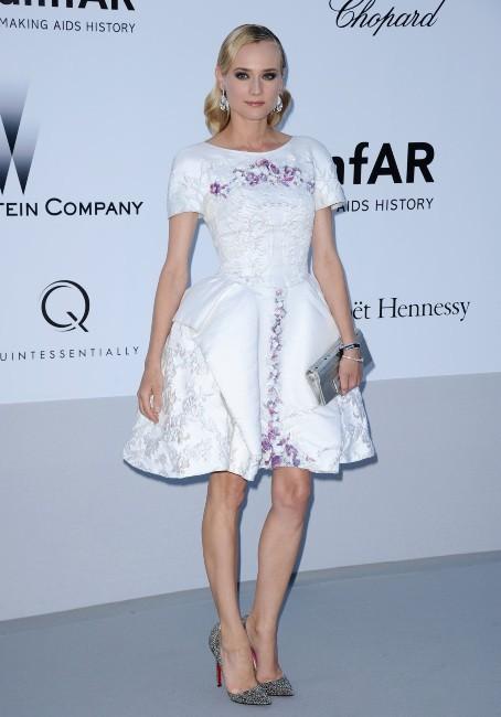 Diane Kruger lors du gala de l'amfAR 2012 à Antibes, le 24 mai 2012.