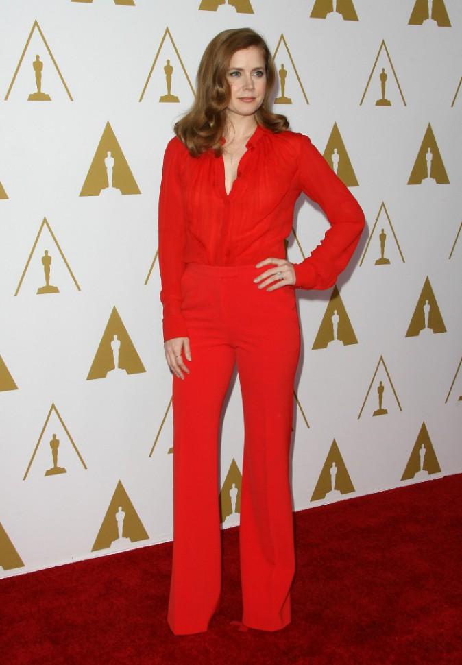 Amy Adams lors du déjeuner des nommés aux Oscars, le 10 février 2014.