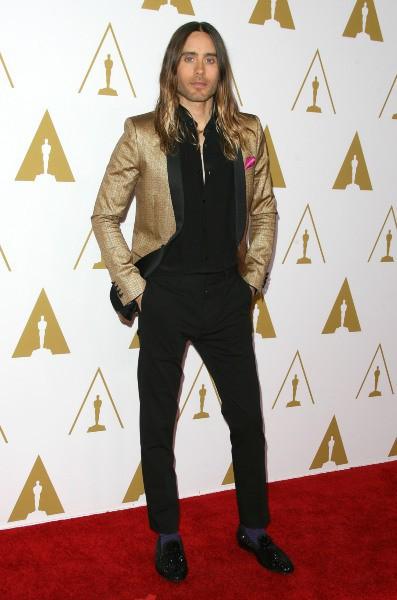 Jared Leto lors du déjeuner des nommés aux Oscars, le 10 février 2014.