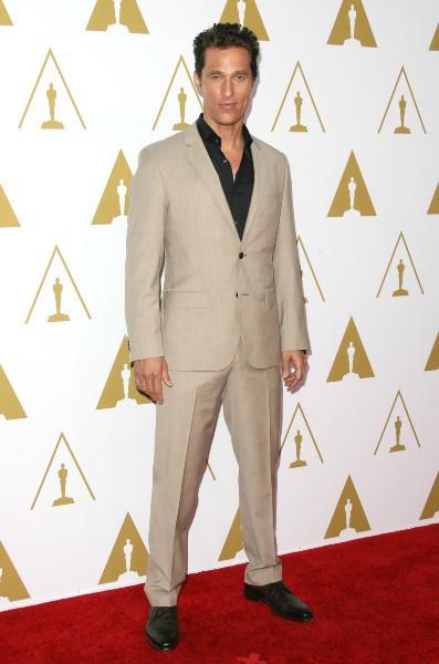 Matthew McConaughey lors du déjeuner des nommés aux Oscars, le 10 février 2014.