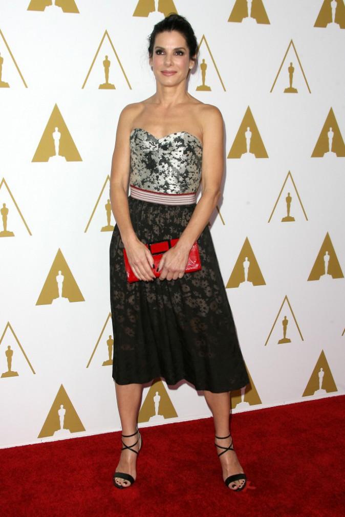 Sandra Bullock lors du déjeuner des nommés aux Oscars, le 10 février 2014.
