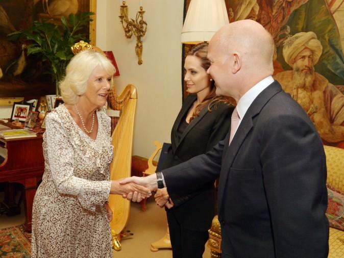 Photos : Angelina Jolie : distinguée par Elizabeth II et reçue par Camilla Parker Bowles !