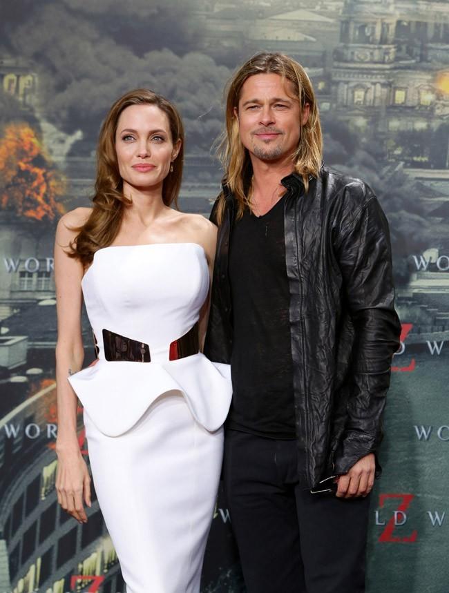 Angelina Jolie et Brad Pitt à l'avant-première de World War Z à Berlin le 4 juin 2013