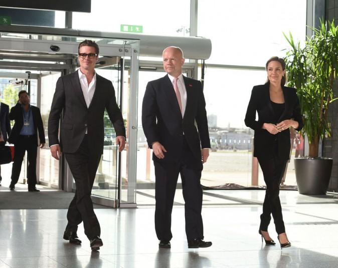 Angelina Jolie et Brad Pitt à Londres le 12 juin 2014
