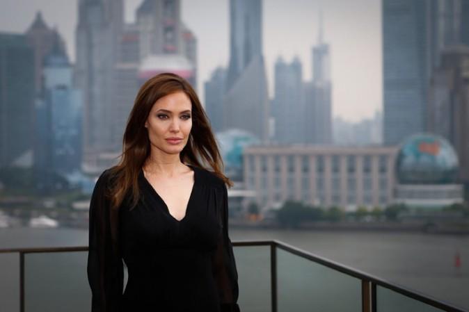 Angelina Jolie à Shanghai pour la promotion de Maléfique le 3 juin 2014