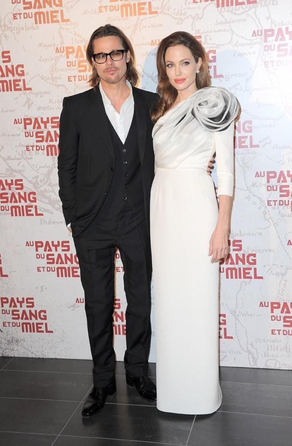 Brad Pitt et Angelina Jolie à Paris pour l'avant-première d' Au pays du sang et du miel