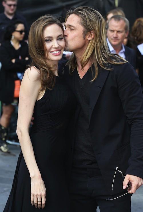 Brad Pitt et Angelina Jolie à Londres en juin 2013 pour la première de World War Z