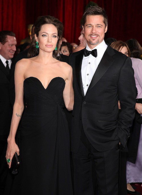 Brad Pitt et Angelina Jolie en février 2009 aux Oscars