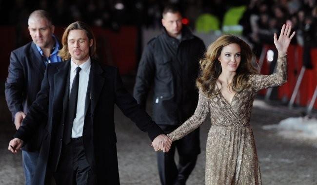 Angelina Jolie et Brad Pitt arrivant au Festival du Film de Berlin, le 11 février 2012.
