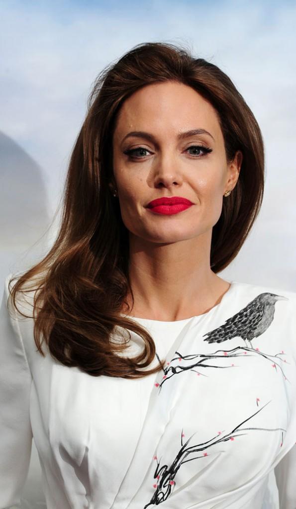 "Angelina Jolie au photocall de ""Maléfique"" organisé à Londres le 9 mai 2014"