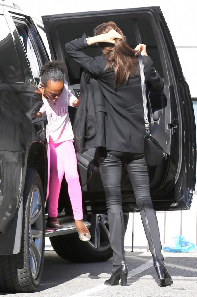 Angelina Jolie et ses filles le 29 décembre 2014