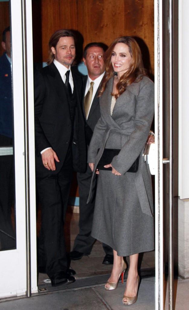 Avec son chéri Brad Pitt