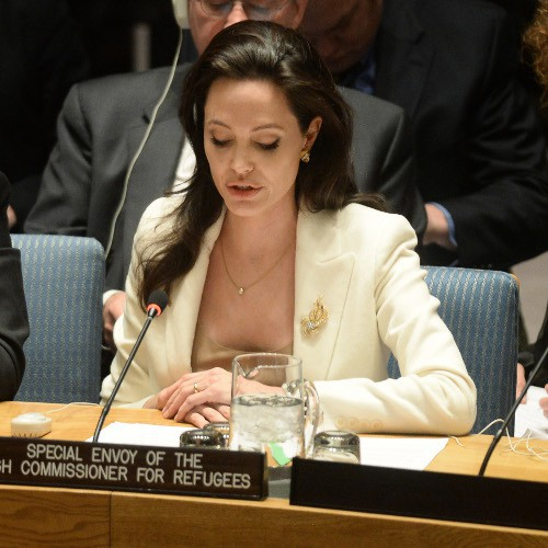 Angelina Jolie à New-York le 24 avril 2015