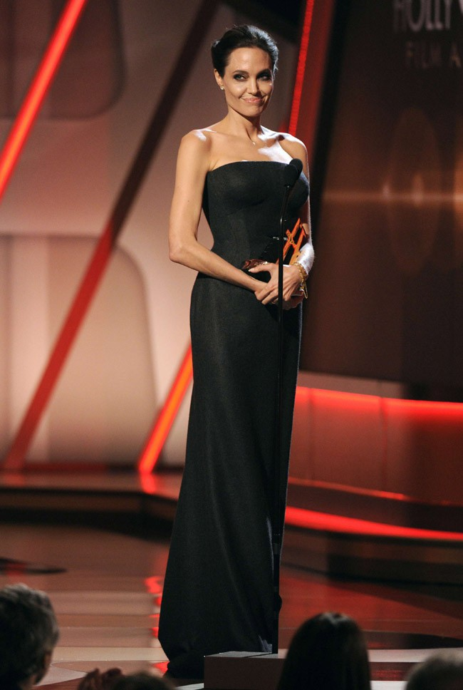 Angelina Jolie à la cérémonie des Hollywood Film Awards le 14 novembre 2014