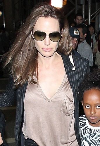 Angelina Jolie et Zahara à Los Angeles le 25 mars 2014