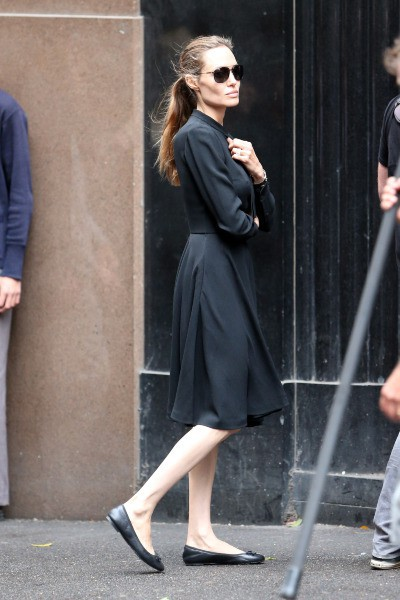 Angelina Jolie en tournage à Sydney, le 21 novembre 2013.
