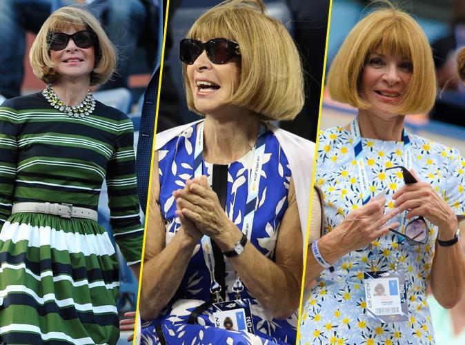 Anna Wintour : on n'a jamais autant vu la papesse de la mode sourire qu'à l'US Open !