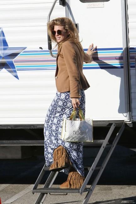 AnnaLynne McCord sur le tournage de 90210 à Long Beach, le 8 mars 2012.