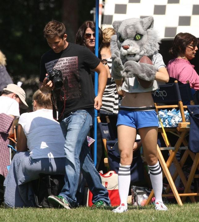 AnnaLynne McCord sur le tournage de 90210 le 26 septembre 2012