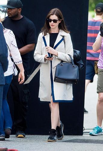 Anne Hathaway à New York le 26 août 2014