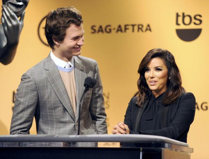 Ansel Elgort et Eva Longoria à Los Angeles le 10 décembre 2014