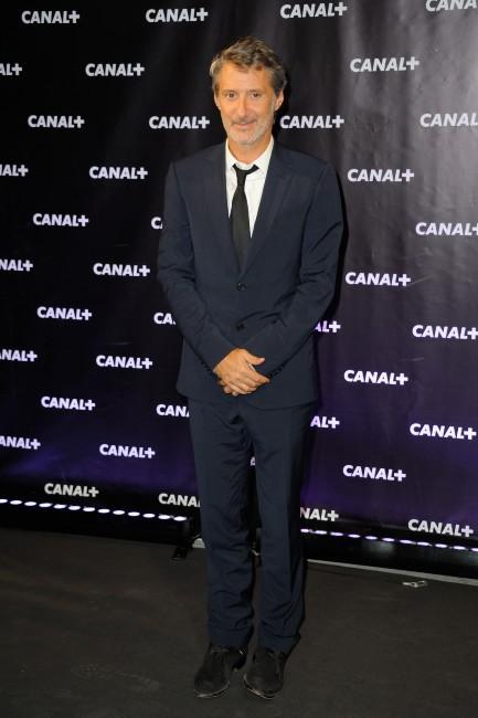 Antoine de Caunes lors de la soirée Canal + à Paris, le 28 août 2013.