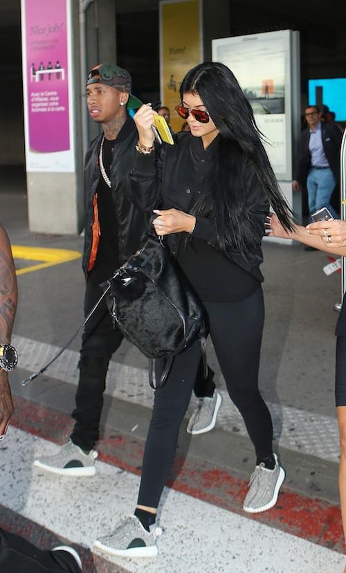 Photos : Après Kim Kardashian, Kylie Jenner et Tyga débarquent aussi en France !