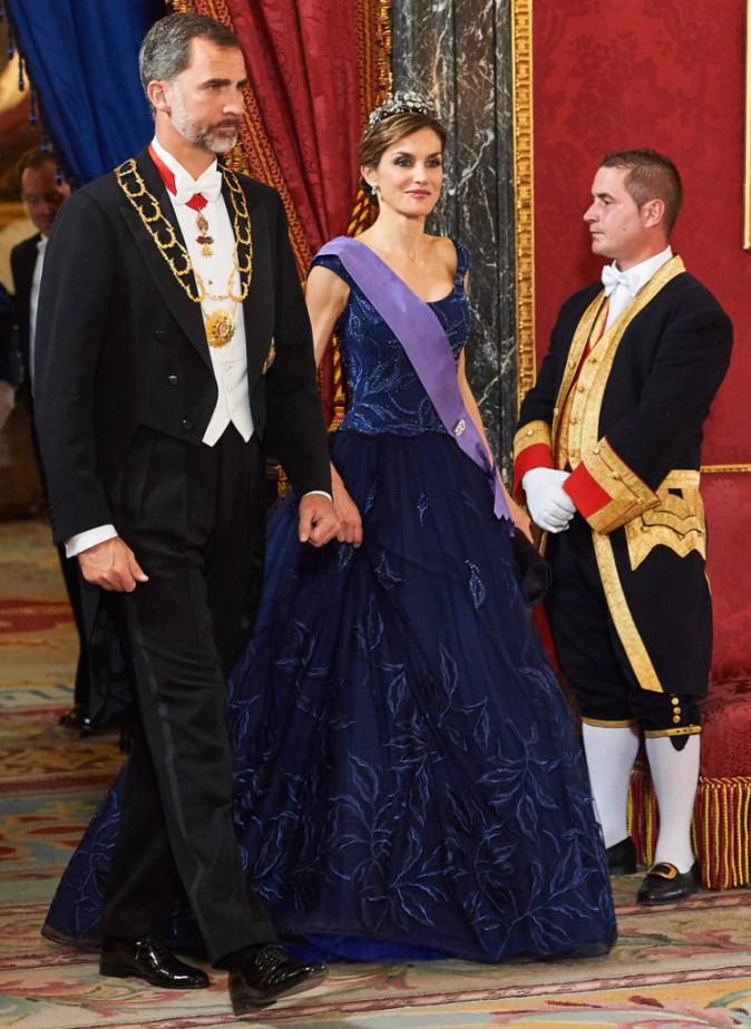 Letizia d'Espagne et le roi Felipe VI sur le 31