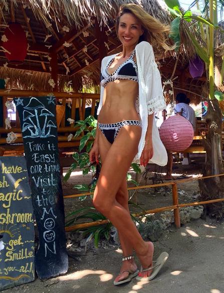 Ariane Brodier en vacances à Bali