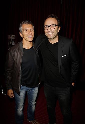 Nagui et Arthur à Paris le 3 octobre 2013