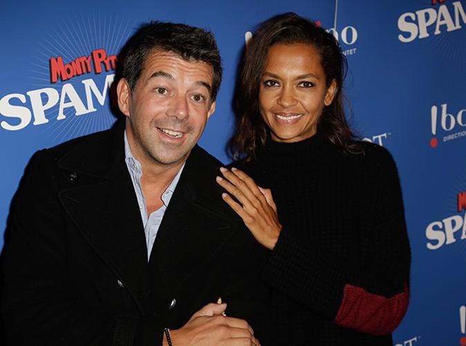 Stéphane Plaza et Karine Le Marchand à Paris le 3 octobre 2013
