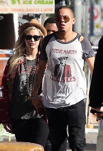 Ashlee Simpson et Evan Ross à Los Angeles le 29 décembre 2013