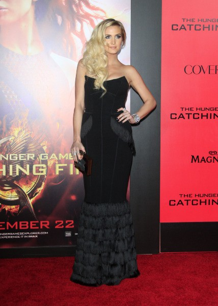 "Ashlee Simpson lors de la première de ""Hunger Games : L'Embrasement"" à Hollywood, le 18 novembre 2013."