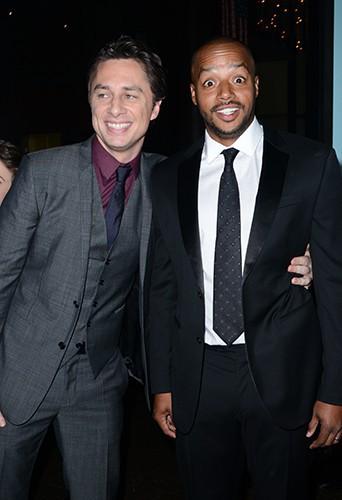 Zach Braff et Donald Faison à Los Angeles le 23 juin 2014