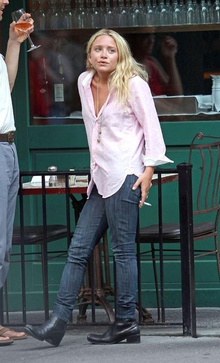 Ashley Olsen en mode casual à New York, le 13 juillet 2011.