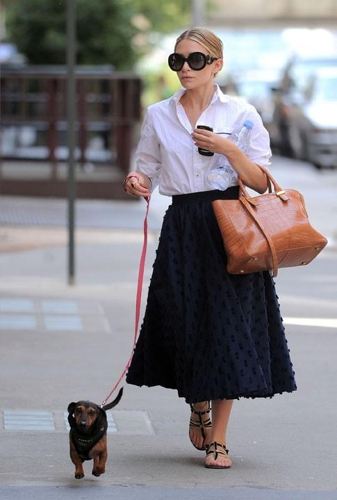 Ashley Olsen et l'un de ses fameux looks... Ici, d'inspiration Amish !