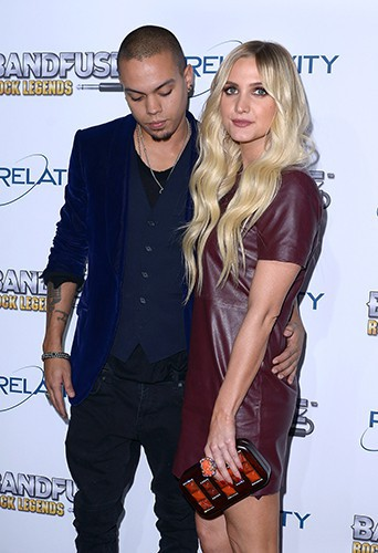 Evan Ross et Ashley Simpson à Los Angeles le 12 novembre 2013