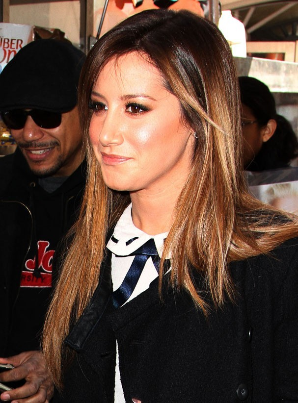 Ashley Tisdale à New-York pour la promotion de Scary Movie 5 le 8 avril 2013