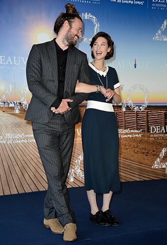 Astrid Bergès-Frisbey et Mike Cahill à Deauville le 11 septembre 2014