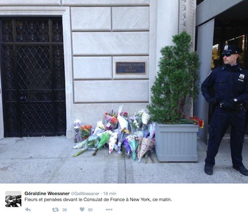 Hommage au consulat de New York