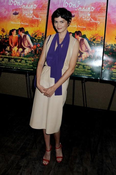 Audrey Tautou à l'avant-première de L'Ecume des Jours à New-York le 16 juillet 2014