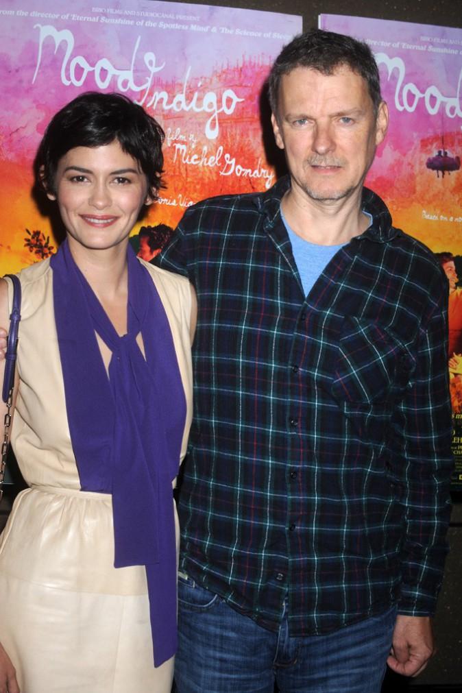Audrey Tautou et Michel Gondry à l'avant-première de L'Ecume des Jours à New-York le 16 juillet 2014